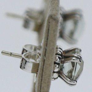 LAGOS Sterling Silver Green Amethyst stud Earrings